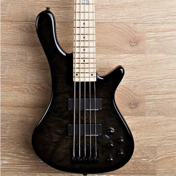 Custom 2017 Wolf S8-5 Natural 5 String Neck Through Bass Black [Maple Fingerboard]