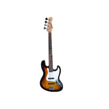 """Custom Full Size 4 String 46"""" Jazz J Electric Bass Guitar with Free Gig Bag and Accessories - Sunburst (Inc"""