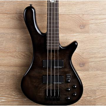 Custom 2017 Wolf S8 4 String Active Passive Jazz Bass Black