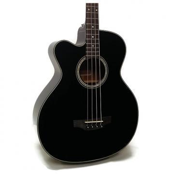 Custom Takamine GB30CELH-BLK G Series Jumbo Cutaway Left-Handed Acoustic-Electric Bass