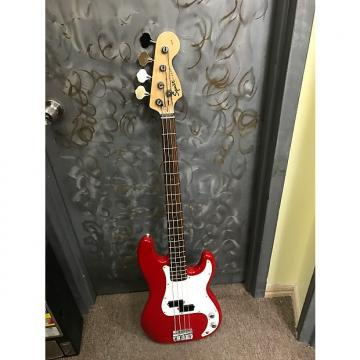 Custom Fender Squier P-Bass 4 String Electric Bass Guitar - Cherry Red