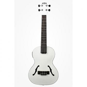 Custom Kala KA-JTE/MTW Archtop Ukulele - Satin Metallic White
