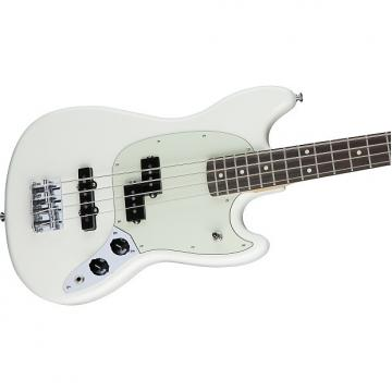 Custom Fender Mustang Bass PJ Right Hand 4 String Bass 2017 Olympic White