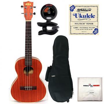 Custom Kala KA-T Tenor Ukulele Bundle Package + Gig Bag + Tuner + Strings + Cloth