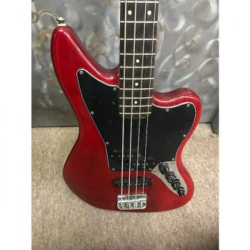 Custom Squier Squier Jaguar Bass 4 String Electric Bass Guitar - Crimson Red