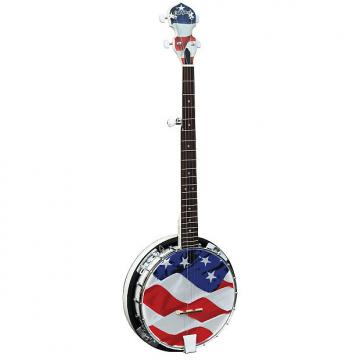 Custom Morgan Monroe Rocky Top Old Glory USA Flag Banjo
