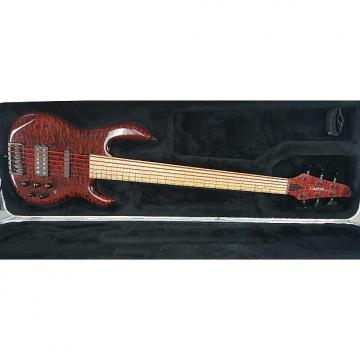 Custom Carvin XB76Extended scale 6 string active bass. Red ruby