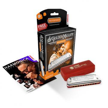 Custom Hohner 542PBX-E Golden Melody Harmonica Key of E