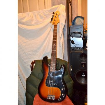 Custom Fender  precision bass guitar 1998 sunburst