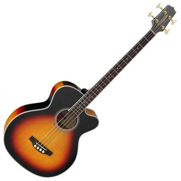 Custom Takamine GB72CE-BSB G-Series Acoustic Electric Bass in Brown Sunburst Finish