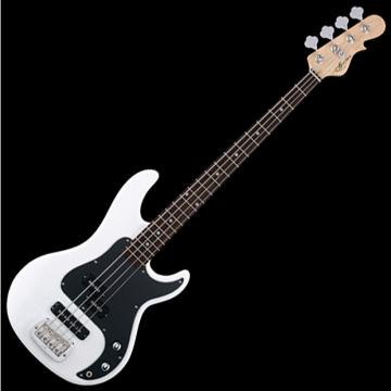 Custom G&L Tribute SB-2 Bass Guitar in Gloss White Finish