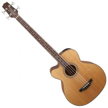 Custom Takamine GB30CELH-NAT G-Series Left Handed Acoustic Electric Bass in Natural Finish