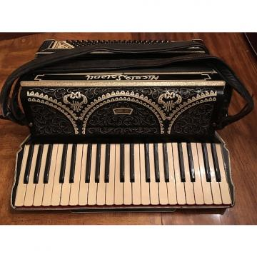 Custom NICOLO SALANTI FULL SIZE 120 REED 1930'S BLACK,GRAY, PEARL EMBELLISHED