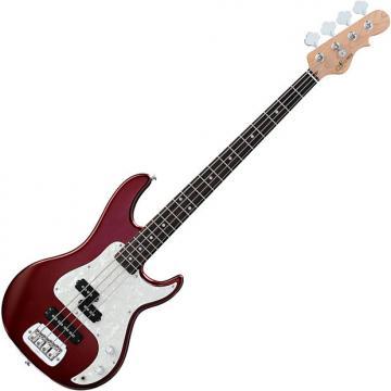 Custom G&L Tribute SB-2 Bass Guitar in Bordeaux Red Metallic Finish