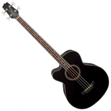 Custom Takamine GB30CELH-BLK G-Series Left Handed Acoustic Electric Bass in Black Finish