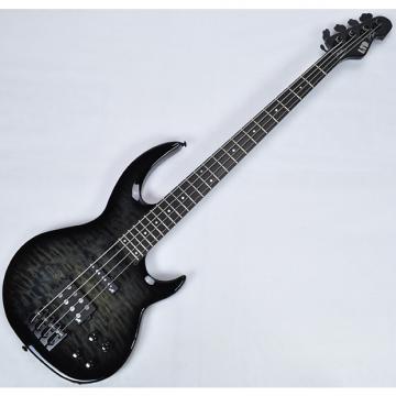 Custom ESP LTD BB-1004QM Bunny Brunel Electric Bass in See Thru Black