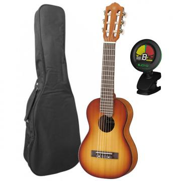 Custom Yamaha GL1 Guitalele 6 String Tobacco Sunburst Nylon Guitar Ukulele w/ Bag and Tuner
