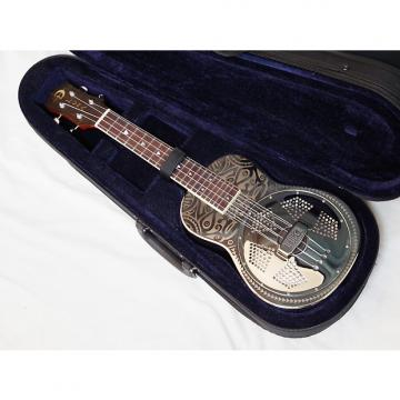 Custom LUNA Tiki Concert UKENATOR resonator UKULELE new UKE w/ CASE - Chrome Plated