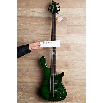 Custom 2017 Wolf S8-5 Transparent Green 5 String Neck Through Bass