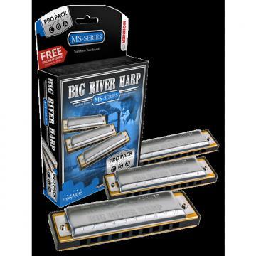 Custom Hohner Big River Harp diatonic harmonica 3-pack - keys of C G A - NEW