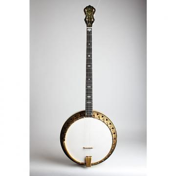 Custom Vega  Vegaphone Soloist Plectrum Banjo (1930), ser. #94949, original black hard shell case.