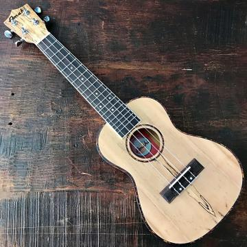 Custom Amahi Classic Spalted Maple Concert Ukulele w/ 10mm padded bag and Leather Pick