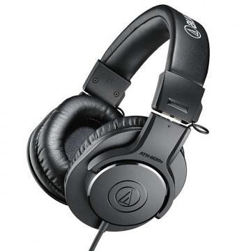 Custom Audio-Technica ATH-M20x Closed-Back Professional Studio Monitor Headphones
