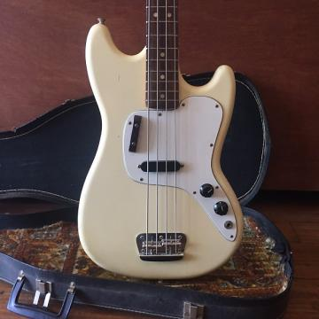 Custom 1975 Fender Musicmaster Bass Olympic White