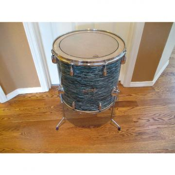Custom Pearl Vintage Pearl 16 X 16 Floor tom, 1968, Japan Made, Blue Oyster, Classic Original Excellent!