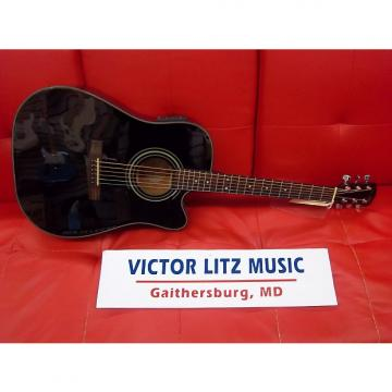 Custom Fender DG-20SCE Dreadnought Acoustic-Electric Guitar MIK Black