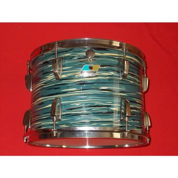 "Custom Vintage 1970s Ludwig 14"" Oyster Blue Pearl 3-Ply Tom Drum"