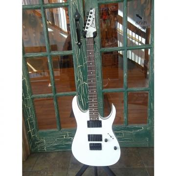 Custom Ibanez RG2EX2 Solid Body Electric Guitar in White w/ Black Binding