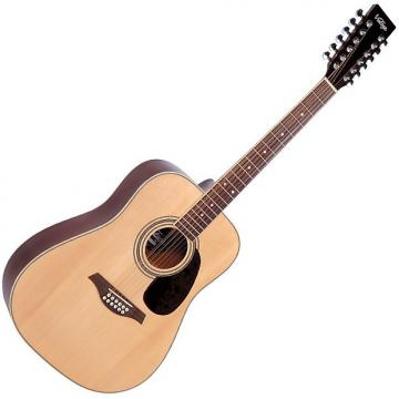 Custom Vintage V400-12 12 String Natural Acoustic Guitar