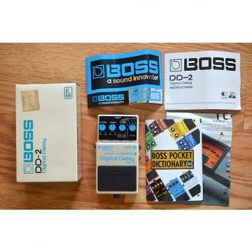 Custom Boss DD-2 Digital Delay w/ Box & Swag 1984 White