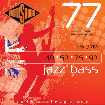 Custom Rotosound RS77M Jazz Bass Monel Flat Wound Strings 40-90