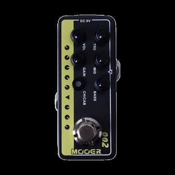 Custom new Mooer Preamp 002 UK Gold (Marshall) amp model guitareffect pedal