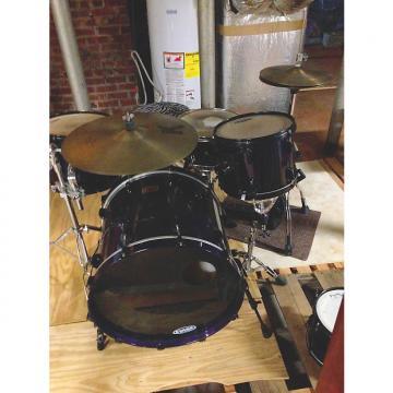 Custom Pearl Masters Custom Maple Drum Kit 2000's Black & Purple
