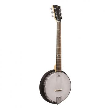 Custom Gold Tone AC-6 Left-Handed Acoustic Composite 6-String Banjo Guitar with Gig Bag