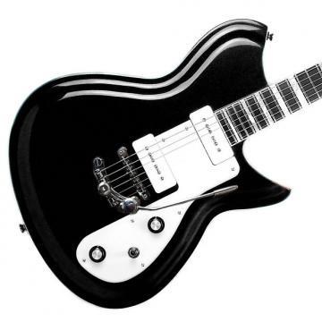 Custom Rivolta Guitars Combinata Deluxe Trem - Toro Black Metallic