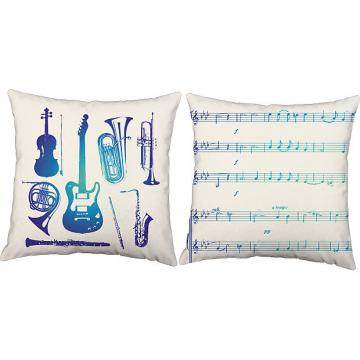 Custom Blue Instruments - RoomCraft Throw Pillows