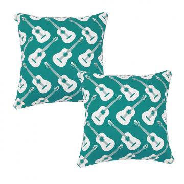 Custom Turquoise Guitars - RoomCraft Throw Pillows