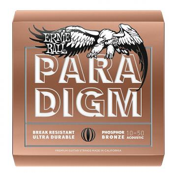 Custom Ernie Ball 2080 Paradigm Phosphor Bronze Acoustic Guitar Strings, Extra Light (10-50)