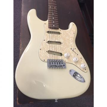 Custom Squier By Fender Strat Bullet Yellowed White