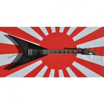 Custom ESP V401DX Flying V Black Transparent Flametop-EMGs, Floyd, OHSC, No longer Made, EXC Near Mint !