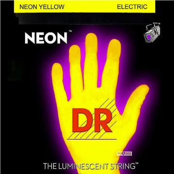 Custom DR Neon YELLOW Elec Guitar Strings 9-46 lite-n-heavy