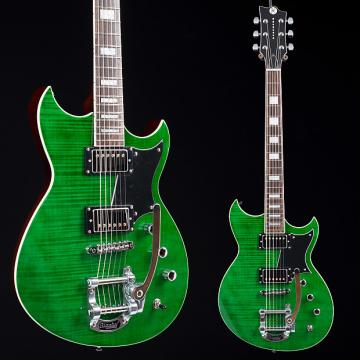 Custom Reverend Sensei HB LE Green Flame Maple 6562