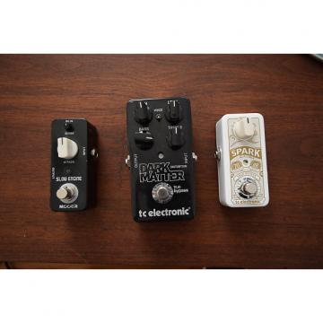 Custom Lot of 3 pedals TC electronic Spank mini booster & Dark Matter distortion , Mooer Slow engine