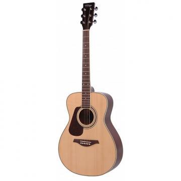 Custom Vintage LH-V300 Left Handed Folk Guitar in Natural