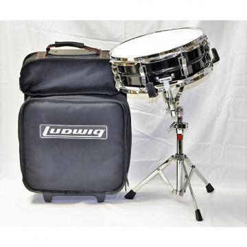 "Custom Ludwig Acrolite Weathermaster 8 Lug Snare Drum w/stand & bag 14"" X 6"""