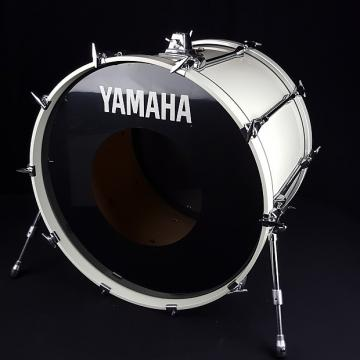 Custom Yamaha 1990's Rock Tour Custom White 24 x 18 Kick Bass Drum